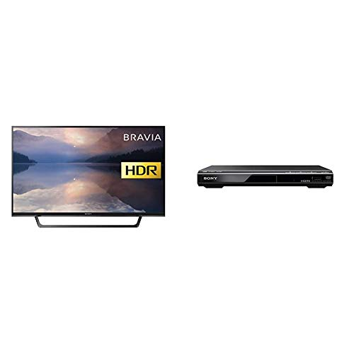 Sony Bravia KDL32RE403 32-Inch HD Ready HDR TV (X-Reality PRO, USB HDD Recording), Black & DVPSR760H DVD Upgrade Player (HDMI, 1080 Pixel Upscaling, USB Connectivity), Black