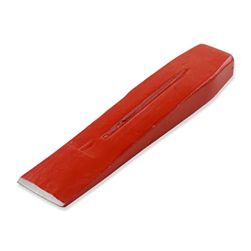 GERMANIA Qualitätswerkzeuge Spaltkeil für Holz 3 kg aus Stahl rot | Spalt-Werkzeug zum Spalten von Brennholz