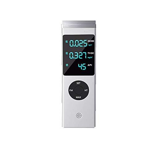 JSX Luftqualität Tester Formaldehyd-Detektor, Smart Monitor API HCHO & TVOC Haushaltstestpapier Messung Formaldehyd Instrument Innen Methanol Luftqualitätstest