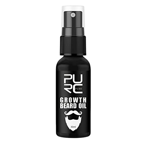 FRCOLOR El Suavizador de Aceite de Barba de 30Ml Fortalece El Crecimiento Del Bigote de La Barba Hidrata La Piel Negra