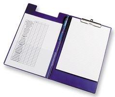 Rapesco Documentos - Carpeta portapapeles con pinza, incluye bolsillo interior y soporte para bolígrafo, color azul