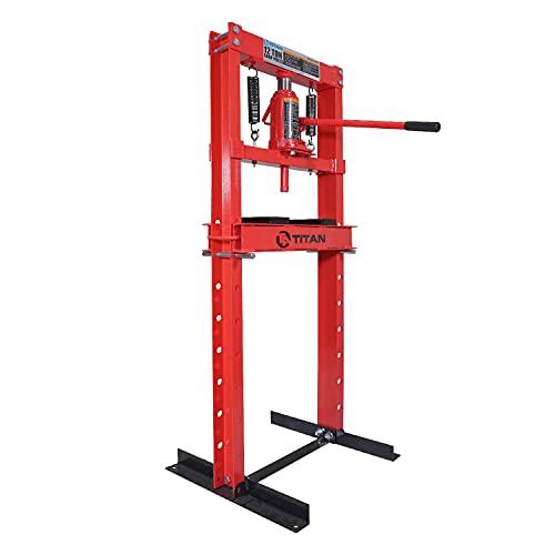 Titan Attachments 12 Ton Hydraulic Shop Floor Press Heavy...