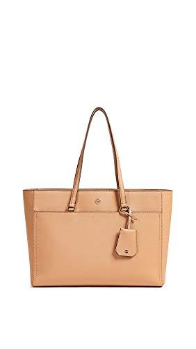 Tory Burch Women's Robinson Tote Bag, Cardamom, Orange, One Size