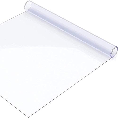 litulituhallo Cubierta de mesa transparente de piso Protector Mat Paño transparente de comedor de plástico