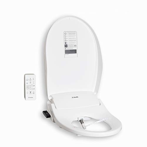 Hulife Electric Bidet Seat for Elongated Toilet with Unlimited Heated Water, Heated Seat, Warm Air Dryer, Wireless Remote Control