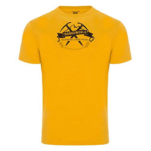 Trangoworld Baldo T-Shirt Homme, Jaune/Vert Olive, XXL
