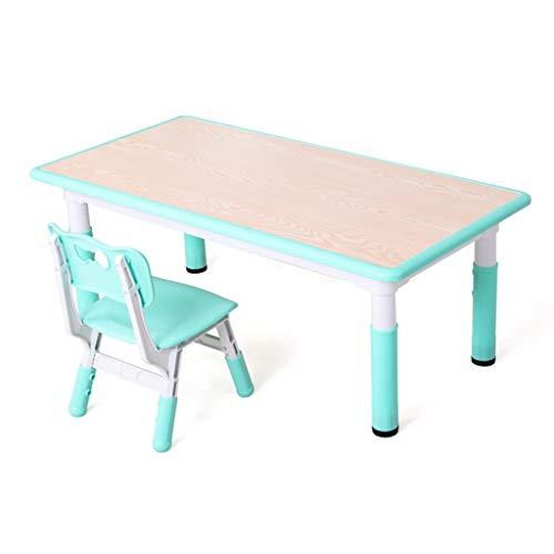 Table d'étude pour enfants Ensemble Bureau et Chaise pour Enfants Table de Jeu Multifonction pour la Maison Peut Supporter Un Poids de 200 kg (Color : Green)