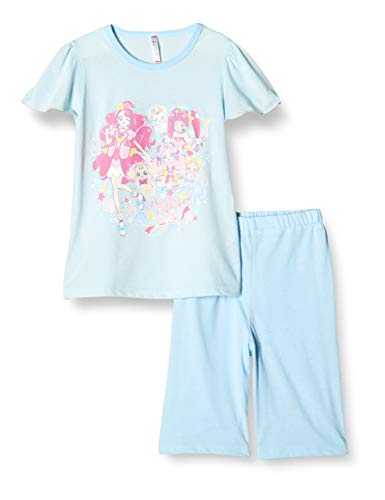 [バンダイ] パジャマ上下 (昇華転写プリントで鮮花やかなデザインの洗濯ネット付き) プリキュアオールスターズ 盛夏Tスーツ 522 2534938 ガールズ サックス 日本 120cm (日本サイズ120 相当)