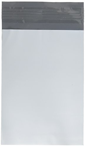 100 EcoSwift 5 x 7 White Small Poly Mailers Size #0 Self Sealing Envelopes Plastic Shipping Mailing Bags 5x7