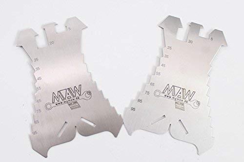 2 x Anreißschablone aus VA V2A Edelstahl Anreißer Dachdecker Spengler Schlosser