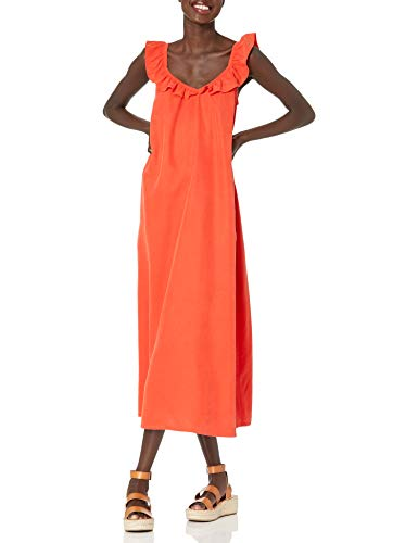 The Drop Women's @graceatwood Ruffle V-Neck Maxi Dress