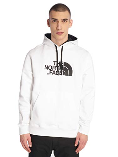 The North Face Drew Peak Sweat-Shirt pour Homme, Blanc (TNF White/TNF Black), 2XL