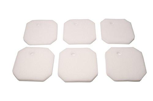 LTWHOME Remplacement Blanc Excellent Filtration Tapis Convient pour Eheim 2616265 Professionnel Pro 2 2226/2326/ 2026/2128 et Expérience 350 (Paquet de 6)