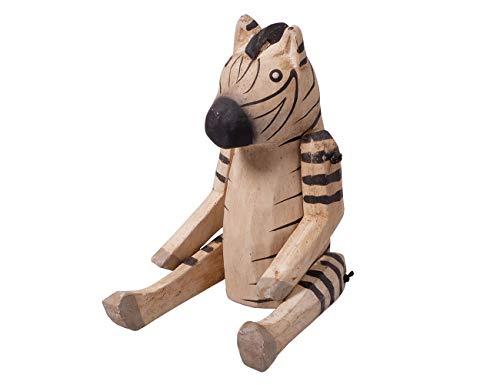 kadoh Zebra Kantenhocker klein 16 cm Tierdeko Deko Figur Holz