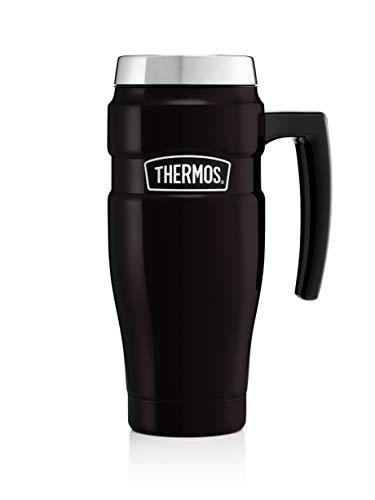 Thermos Edelstahl König Travel Mug - Matt Black (470 ml)