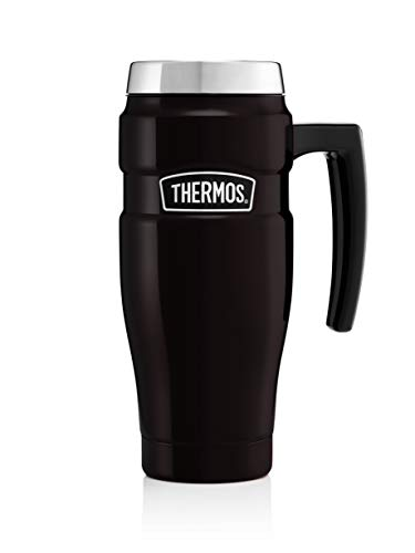 Thermos 101834 Stainless King Travel Mug, Matt Black, 470 ml