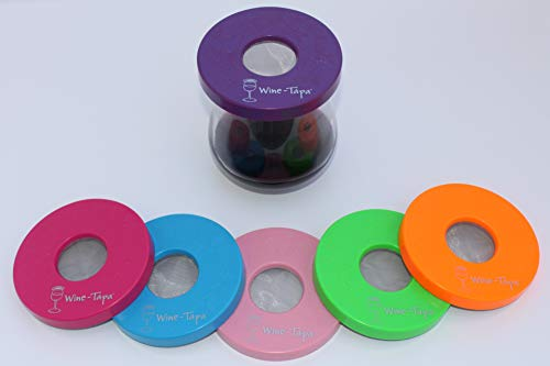 Wine-Tapa (R) Cabana Set von 6 Weinglas-Abdeckungen in sechs Heller schöner Farben zu Ihrem Weinglas Bugs Protect & Insekten 7 Blush Lavendel pink hellblau Kalk Tangerine