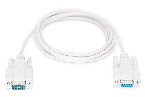 DIGITUS Serielles Anschluss-Kabel - D-Sub 9 zu D-Sub 9 - Stecker zu Buchse - 2.0m - Verlängerungskabel - Blisterpackung