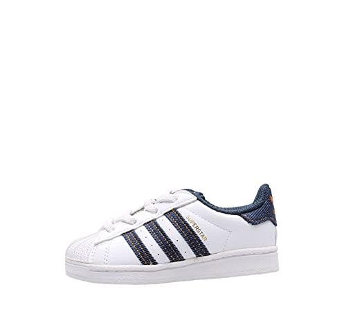 adidas Superstar J - Zapatillas blancas para niño H04031, Color blanco., 26