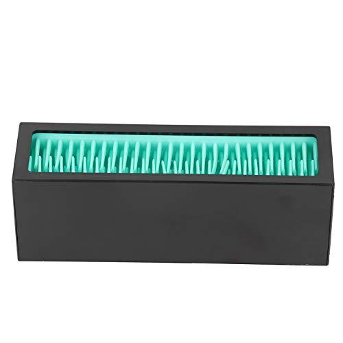 Lippenstifthalter, Silikon-Make-up-Pinsel-Display, Weichmaterial-Lippenstift-Display zur Aufbewahrung von Make-up-Werkzeugen(Lake blue + black)