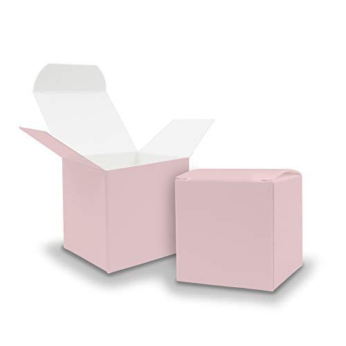 itenga 25x Geschenkboxen WÃürfel aus Karton Rosa Adventskalender Gastgeschenk Rohlinge zum FÃüllen und Dekorieren 6,5x6,5cm