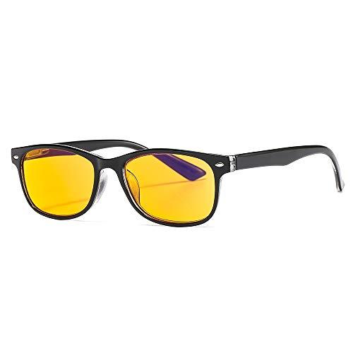 Suertree Blaulicht Brille 95% Anti-blaulicht Lesebrille Gelbe Brille UV-Schutz Computerbrille Game Brille für PC 1.5X BM163