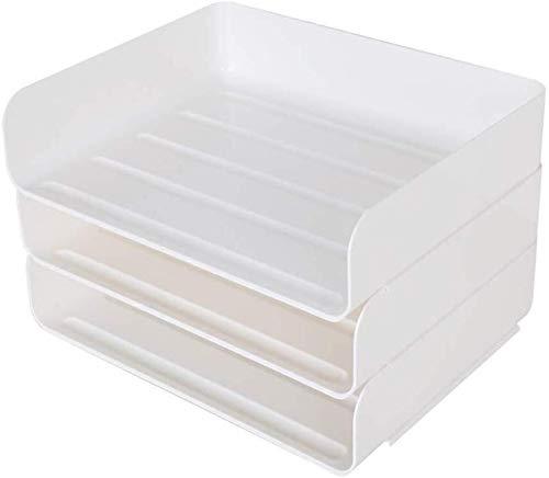Archivadores Archivador titular de archivos robusta de plástico PP Oficina Material de Estudio escuela frente grande edificios de apertura Organizador de escritorio de superficie lisa de plástico PP C