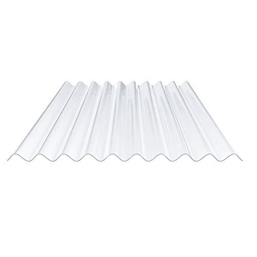 Lichtplatte | Wellplatte | Lichtwellplatte | Profil 95/35 | Material PVC | Breite 950 mm | Stärke 1,2 mm | Farbe Klarbläulich