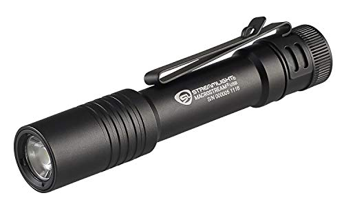 Streamlight 66320 MacroStream USB Rechargeable Compact Flashlight with Wrist Lanyard, Hat Clip and USB Cord, Black