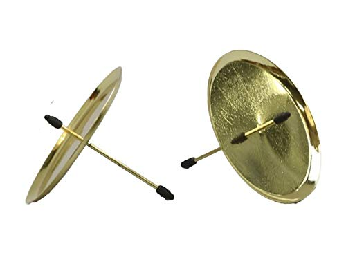 RiloStore 4er Set Kerzenstecker Adventskranz Stecker Gold Farben zum Stecken Kerzenhalter
