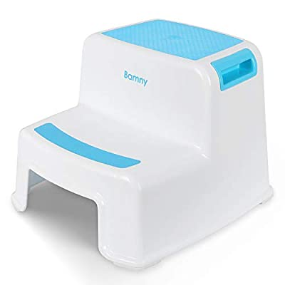 BAMNY Potty Training Toilet Seat for Kids, Toddlers Toilet Trainer Ring for Boys or Girls with Splash Guard, Handles and Backrest, Apply to Round and Oval Toilets (White)