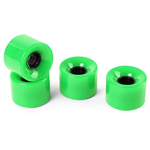 NO LOGO LMY-HUABAN, 4 Stück 60 x 45 mm Standard-Cruiser-Laufrad Einfarbig Polyurethan-haltbare, verschleißfeste Skateboard-Laufräder (Color : Green)