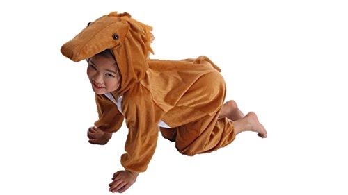 Matissa Niños Disfraces de Animales Niños Niñas Unisex Disfraces Cosplay Niños Onesie (Caballo, XL (para niños de 120 a 140 cm de Altura))