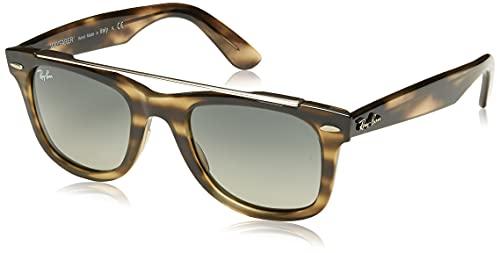 Óculos de sol Ray-Ban RB4540 Wayfarer Double Bridge, Striped Dark Brown/Grey Gradient, 50 mm