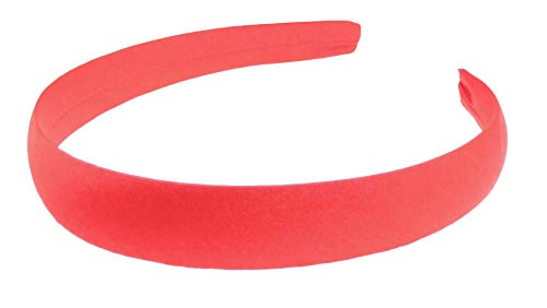 Glamour Girlz Girls School Party Satin Covered 2cm Hair Headband Alice Band (Red)