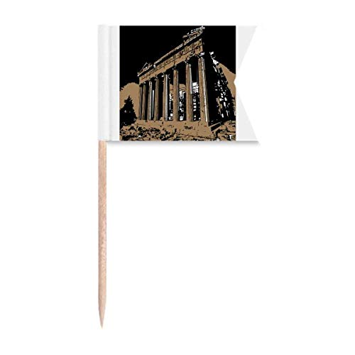 Greek Acropolis Athens Antike Zahnstocher Flaggen Markierung für Party Kuchen Lebensmittel Käseplatte