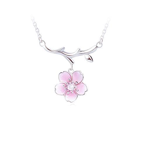 N/A Collar Collar Unisex Minimalista De Acero Inoxidable Flor Bebe El Colgante De Moda Todo Fósforo No Se Desvanece
