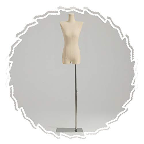 RZEMIN ZEMIN Maniquí de Costura, Exhibición Ficticia de Sastre de Escaparate, Estante Modelo Femenino de Hombro Plano de Moda, 2 Estilos, 3 Colores (Color : B)