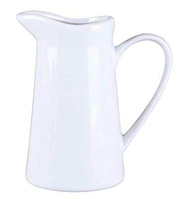 HengTianCheng Creamer Pitcher With Handle,Syrup Pitcher,Coffee Milk Honey Pitcher Milk Syrup Server, Professional Services In Cafes, Restaurants, Hotels(white,7 oz) (7 Oz)