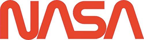 U24 Aufkleber NASA Schriftzug rot Autoaufkleber Sticker Konturschnitt