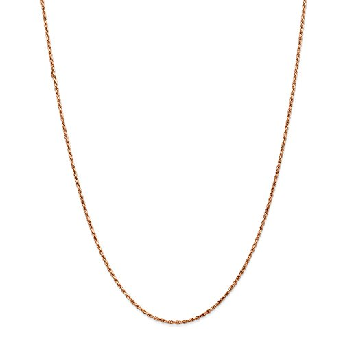 Photo of 14ct Rose Gold 1.8mm D/C Rope Chain Necklace for Men Women