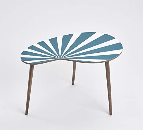 Queence Design-Tisch/Beistelltisch/Couchtisch/Retro Design/Nierenform/Coffee Table Tisch/Nierentisch/Telefontisch/Größe: 60x40,...