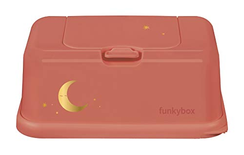 Funky Box Teja Luna - Estuches y dispensadores para toallitas, unisex, naranja