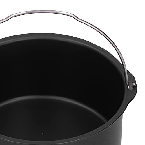 Barril de pastel para freidora de aire, barriles de pastel Superficie antiadherente Fácil de acero al carbono para freidora eléctrica para vapores(8 inches)