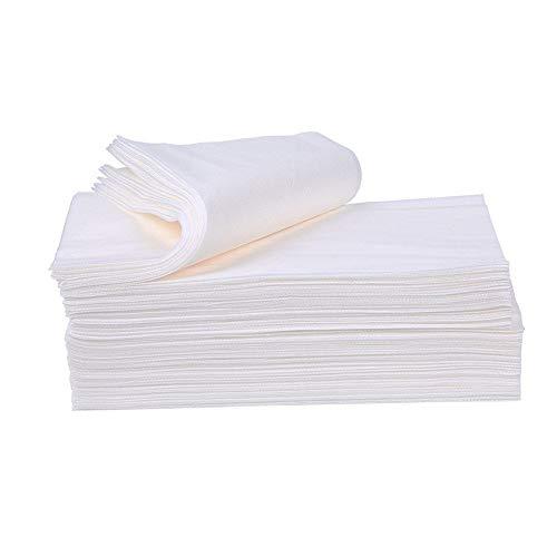 QiQizhang Toallas Desechables, Toallas De Civil Pedicura De Pulpa De Madera, Telas No Tejidas, Usadas En Salón De Belleza Ducha Viajes, 100pcs