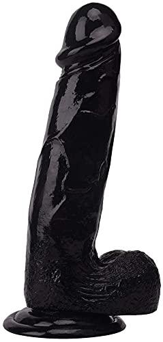 Yeven Women's 6-9inch Black Large Waterproof Ðìldô Sêxy Tôystôry Realistic Textured Dìlìddô Toys with Thick Suction Cup Base Ðìllô Flêxìble Bôdy Ðìdôs Màssàgêr Stìck for Men/Women Best Gift (S-6inch)