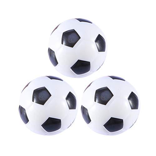 VICASKY 3 stücke Mini Sportbälle PU Schaum Fußbälle Stressbälle Favor Spielzeug für Kinder Party Stressabbau (Weiß)