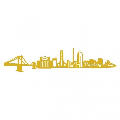Skyline4u Duisburg Aufkleber Duisburg Skyline viele Farben in 8 Größen und 25 Farben (60x12,8cm goldmetalleffekt)