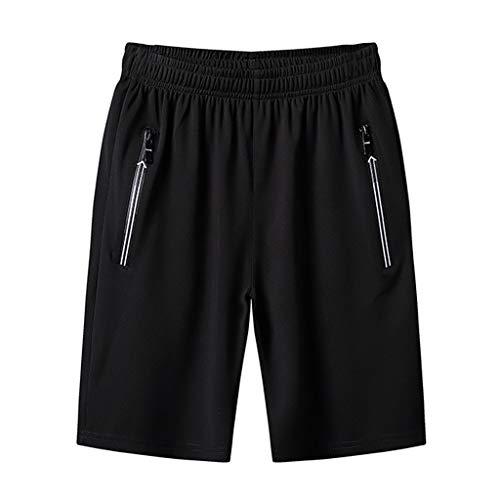 TIMEMEAN Shorts Herren Sommer Plus Size Dünn Schnelles Trocknen Strand Beiläufig Elastische Taille Kurze Sporthose