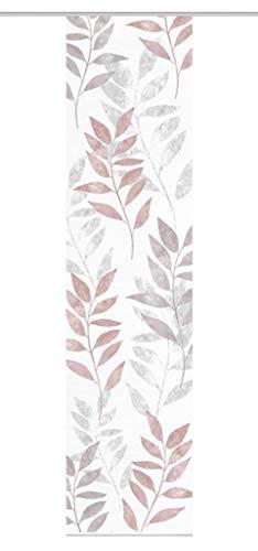 Vision S Schiebegardine Cooper 84618 | Stoff in Bambus-Optik, 260 x 60 cm, Farbe: (rosé)